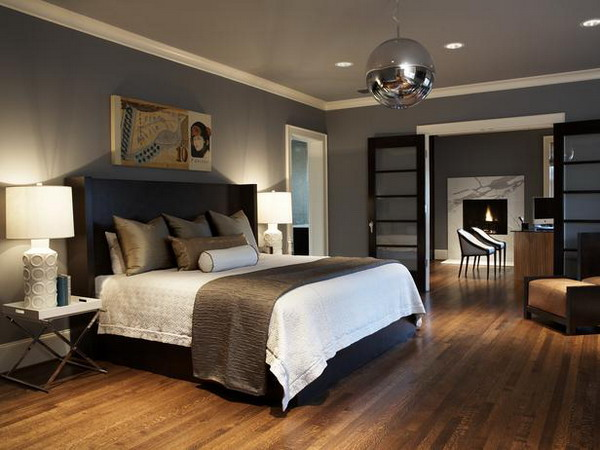 Master Bedroom Decor Ideas Full Furniture With Dark Black Design Interior With Two Night Lamp